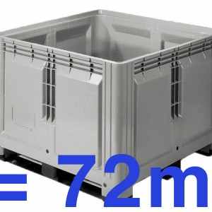 "1 palette of 360 kg corresponds to 72 m or about 1 container 40 ""for 4,5 km of fence"